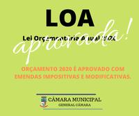LOA 2020 é aprovada